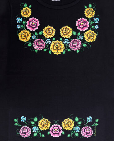Playera-mujer-negro-huipil-zapoteco-detalle
