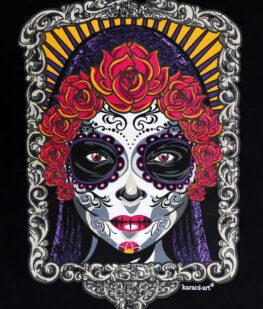 Playera-mujer-negro-la-llorona-detalle