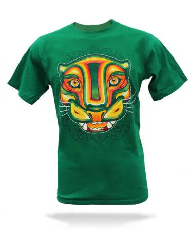 Playera-Hombre-jaguar-rastafari-verde-jade