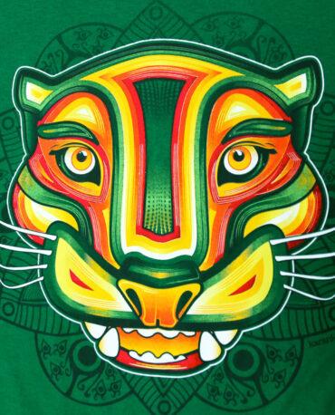 Playera-Hombre-jaguar-rastafari-verde-jade-detalle