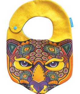 Babero-jaguar-en-huichol
