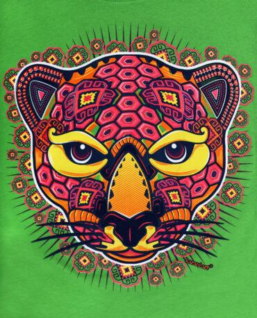 playera-Jaguar-en-Huichol-verde-f2