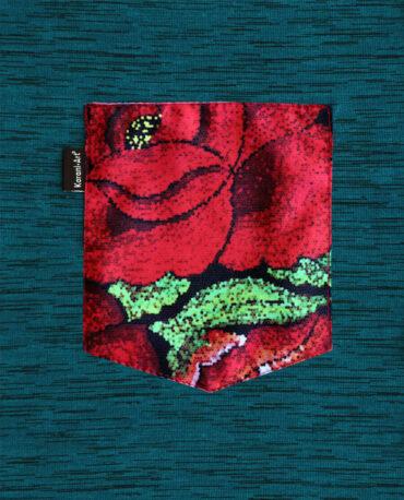 Playera-Flor- Tehuana-Detalle-Bolsa-jade-F2