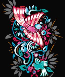 Playera-aves-y-flores-detalle