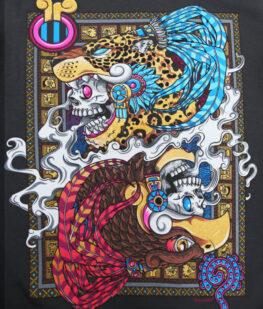 Playera-dioses-gemelos-carbon-detalle