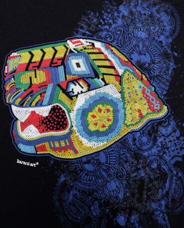 Playera-jaguar-huichol-negro-detalle