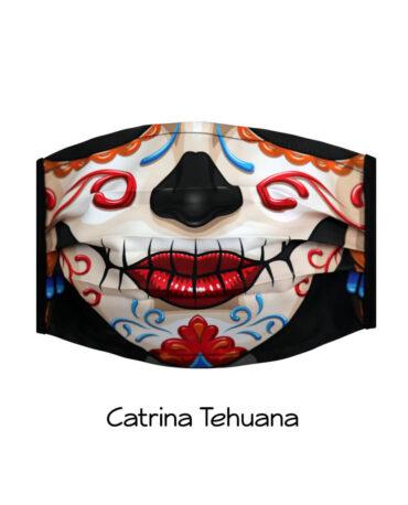 cubrebocas-Catrina-Tehuana