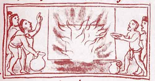 Incendio en el templo de Huitzilopochtli