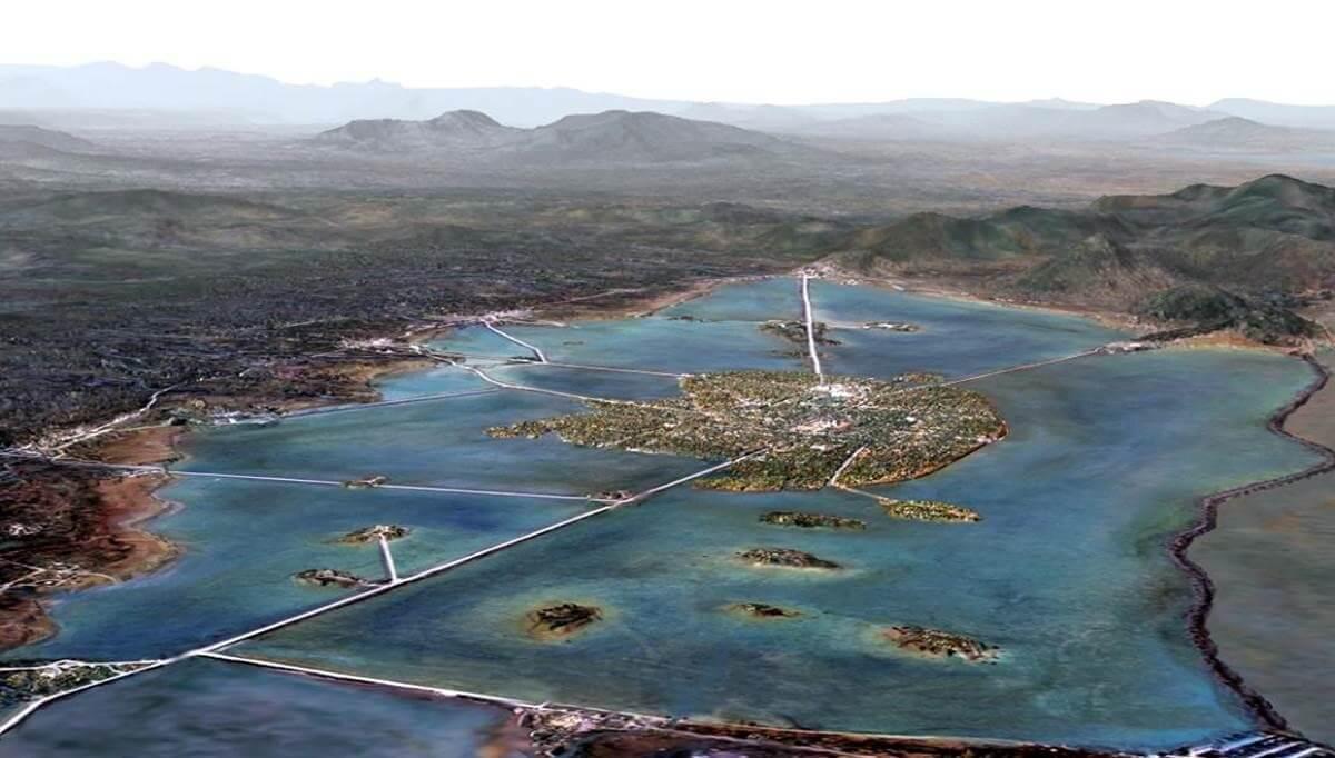 Perspectiva de la capital del imperio azteca