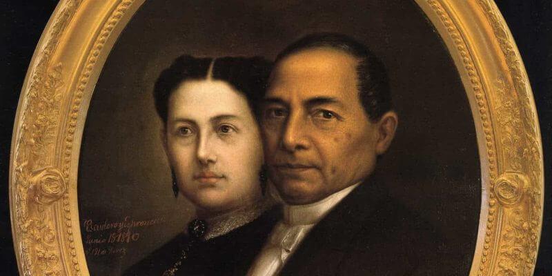 Benito Juárez junto con su esposa