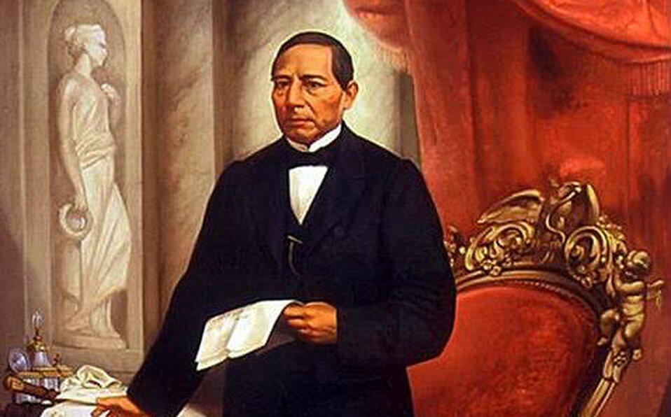 Benito Juárez en la silla presidencial