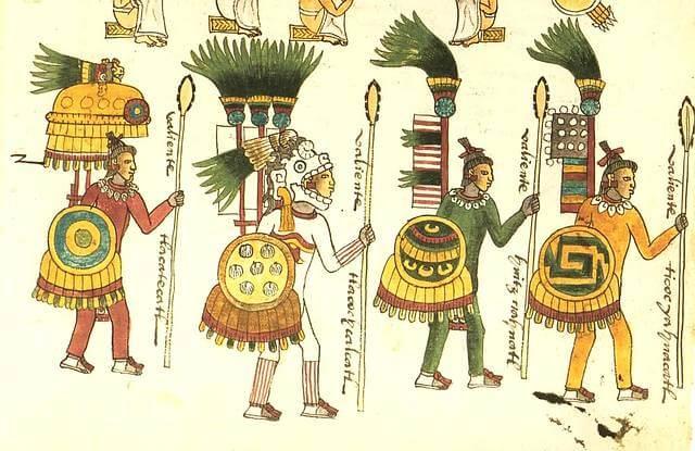 Guerreros del imperio azteca