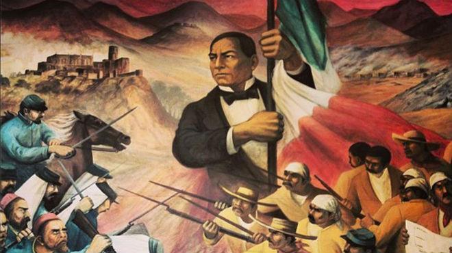 Mural sobre Benito Juárez