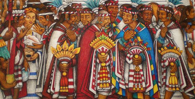 ilustración del pueblo tlaxcalteca