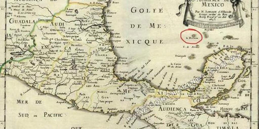 presunta ubicación de la isla bermeja