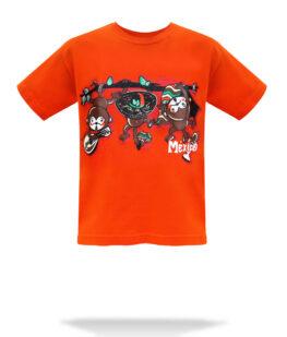 playera-niño-Changuitos-naranja-f1