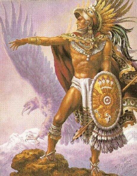 pintura del guerrero Popocatépetl