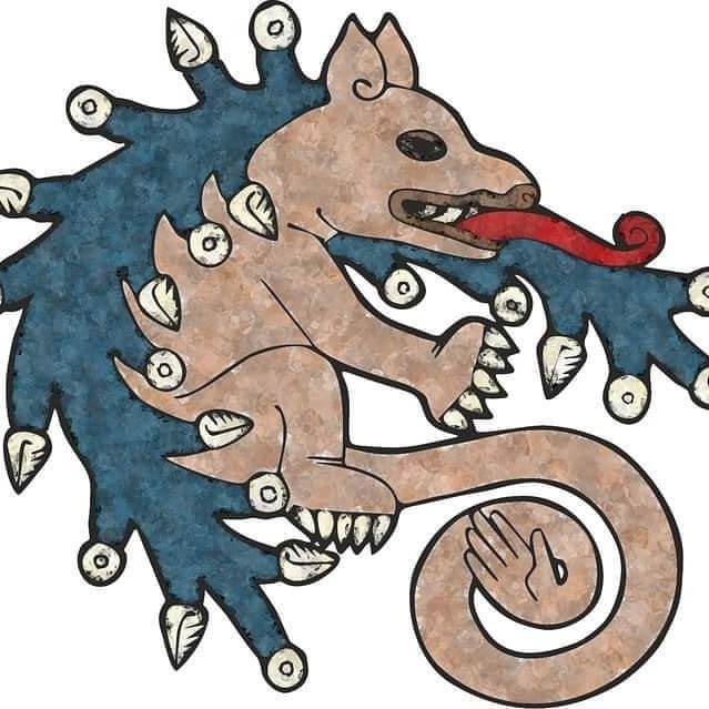 pintura sobre la apariencia del ahuízotl