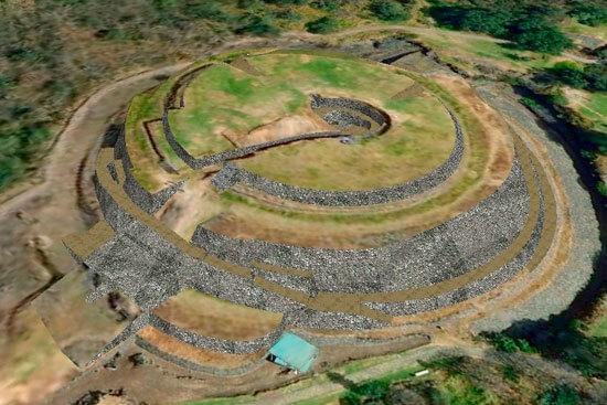 piramide de cuicuilco del preclásico