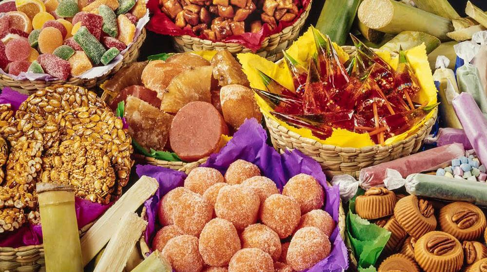canasta de dulces mexicanos
