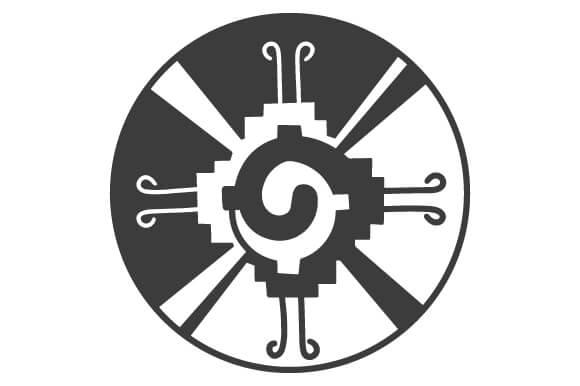 símbolo del dios maya hunab ku