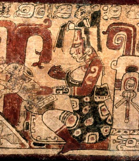 retrato de la diosa maya ixchel
