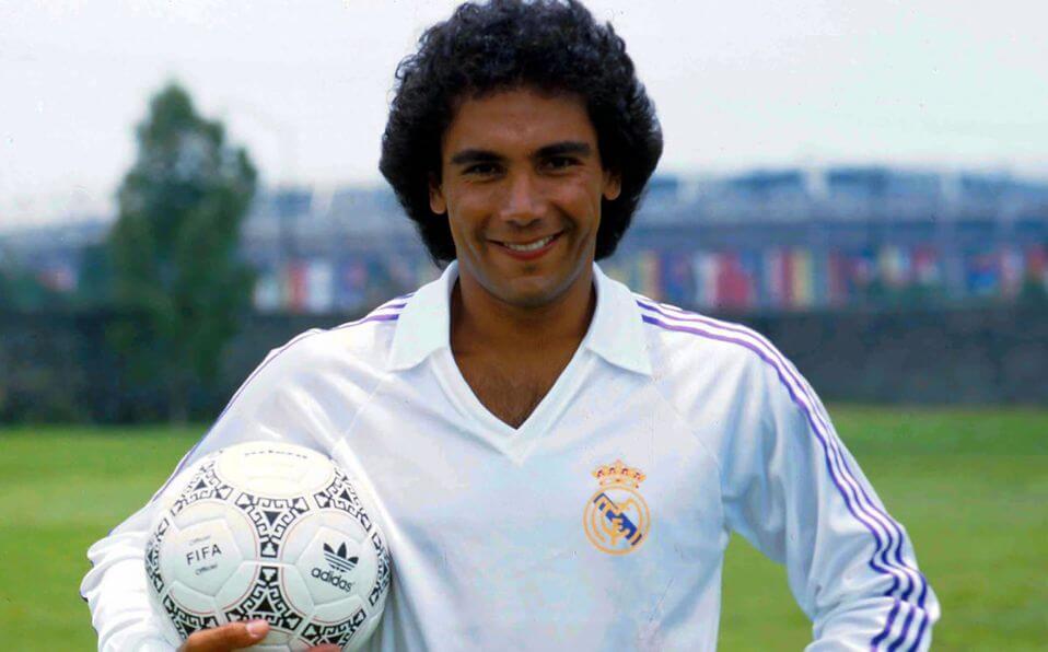 Hugo Sánchez con el Real Madrid