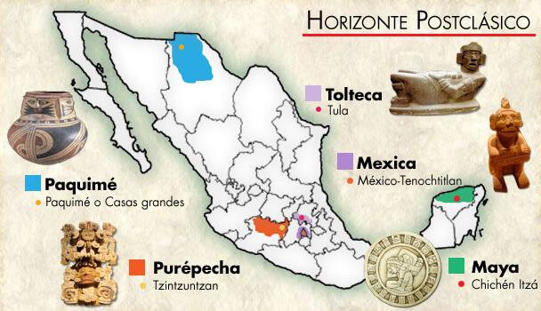 zonas importantes del posclásico