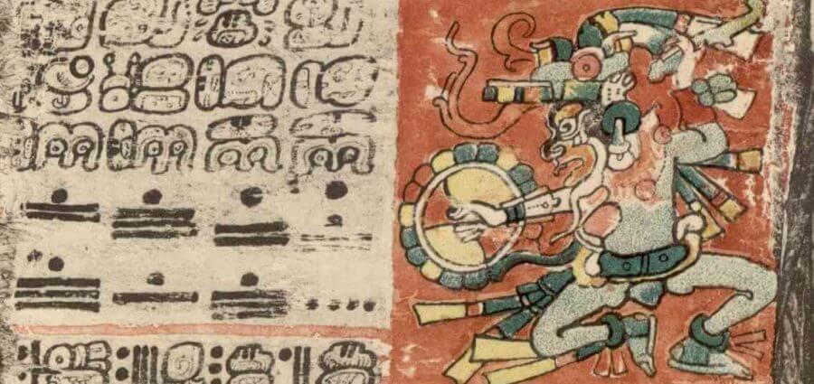 mural de dioses mayas